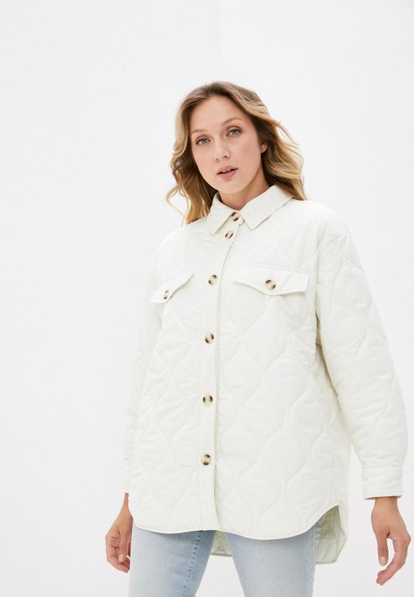 женская утепленные куртка befree, белая