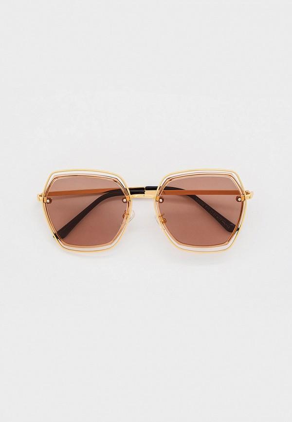 женские квадратные солнцезащитные очки mon mua, золотые