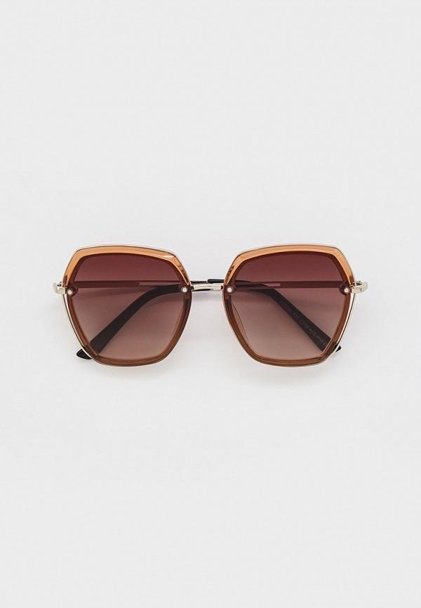 женские квадратные солнцезащитные очки mon mua, коричневые