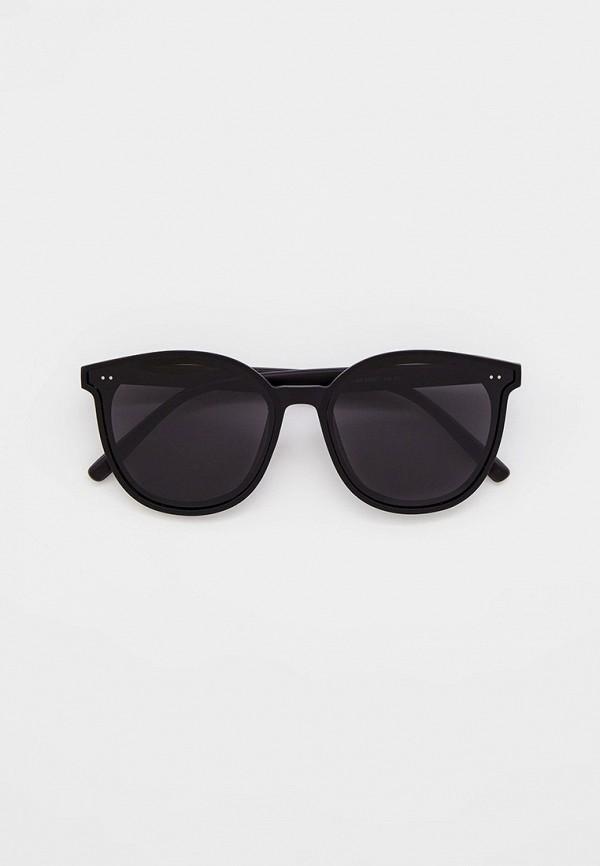 женские круглые солнцезащитные очки mon mua, черные