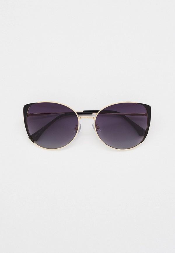 женские солнцезащитные очки кошачьи глаза mon mua, золотые