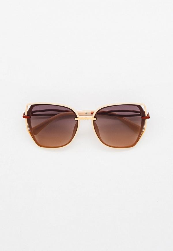 женские солнцезащитные очки кошачьи глаза mon mua, бежевые