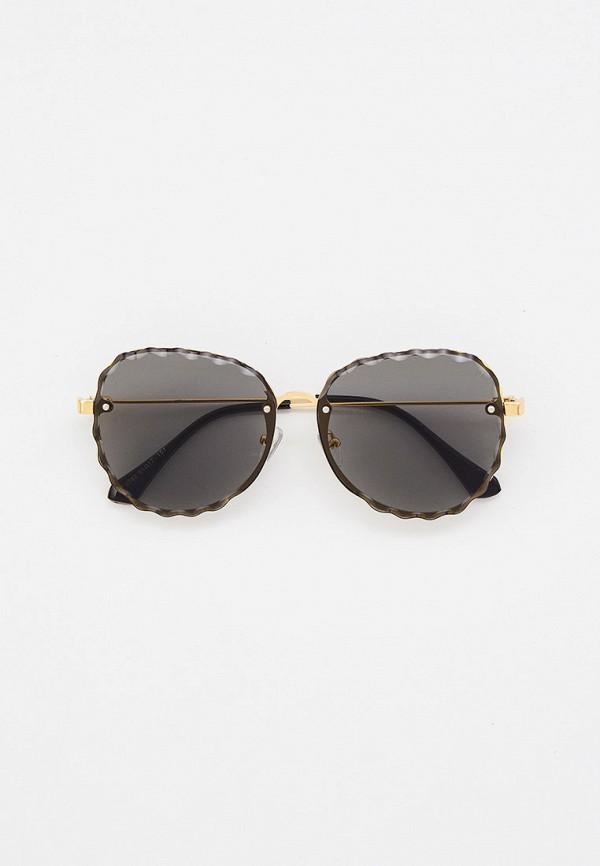 женские авиаторы солнцезащитные очки mon mua, золотые