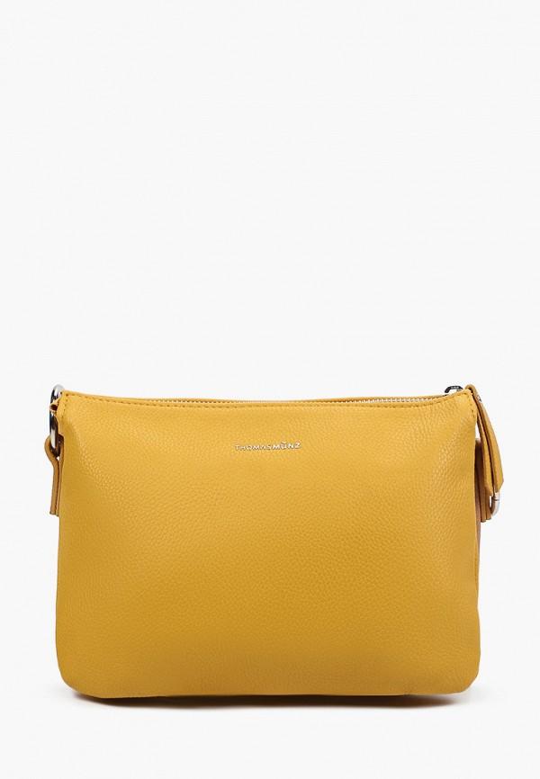 женская сумка через плечо thomas munz, желтая