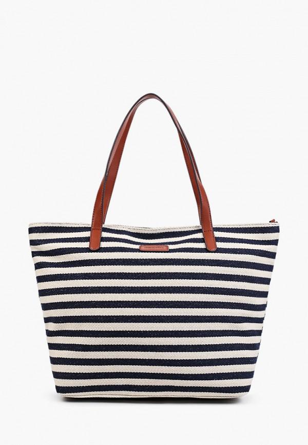 женская сумка-шоперы thomas munz, разноцветная