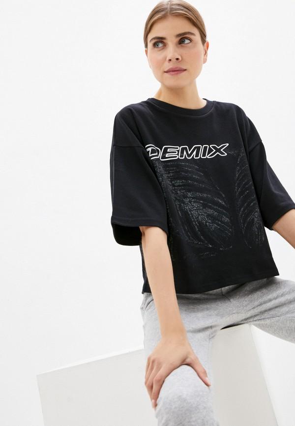 женская спортивные футболка demix, черная