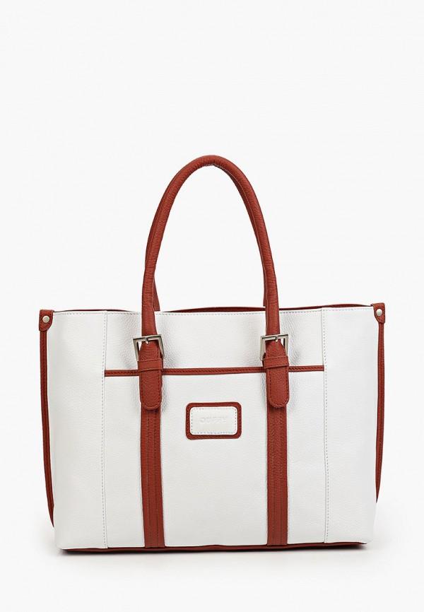 женская сумка с ручками duffy, белая