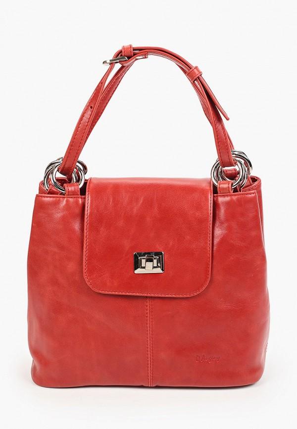женская сумка с ручками d.angeny, красная