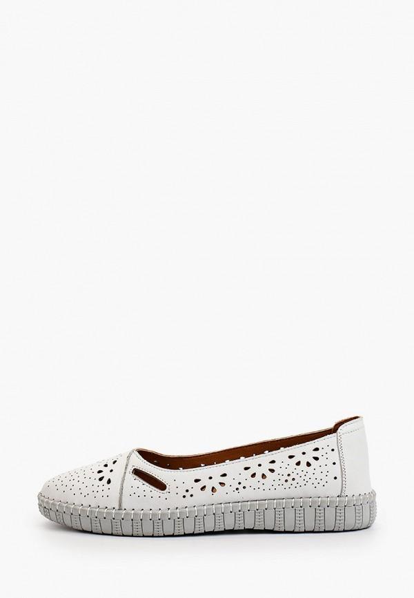 женские туфли с закрытым носом thomas munz, белые