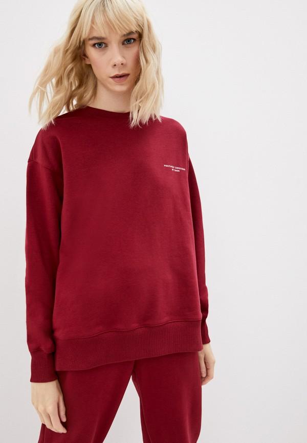 женский свитшот baon, бордовый