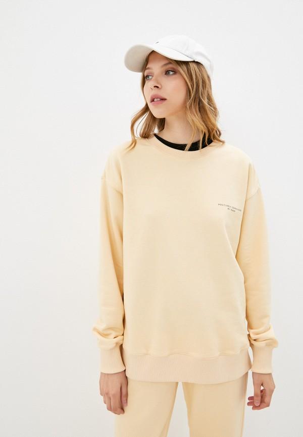 женский свитшот baon, желтый