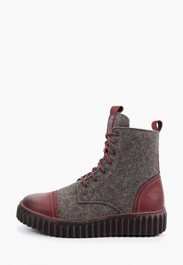 женские высокие ботинки makfly, серые