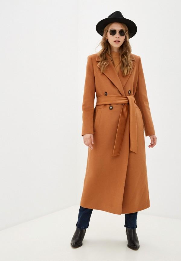 женское двубортные пальто sashaostrov, коричневое