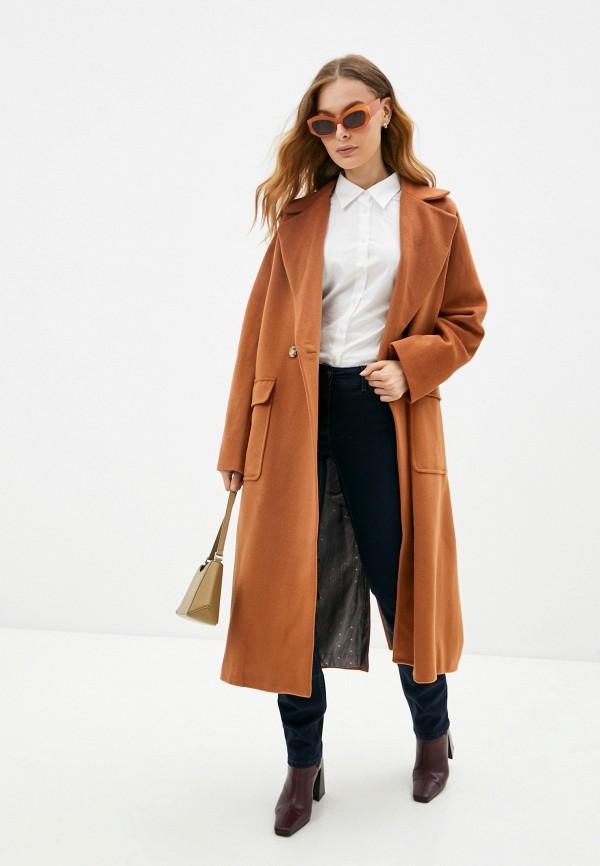 женское пальто sashaostrov, коричневое