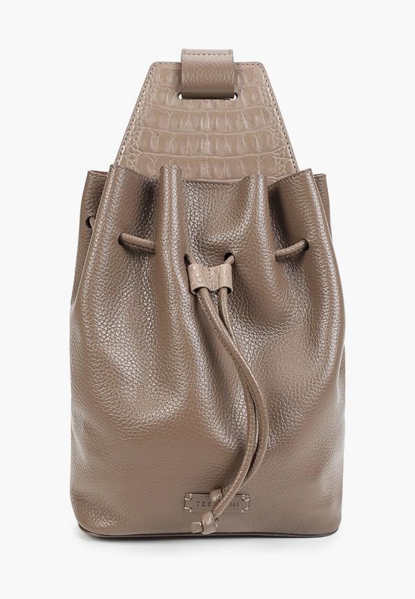 женский рюкзак tesorini, коричневый