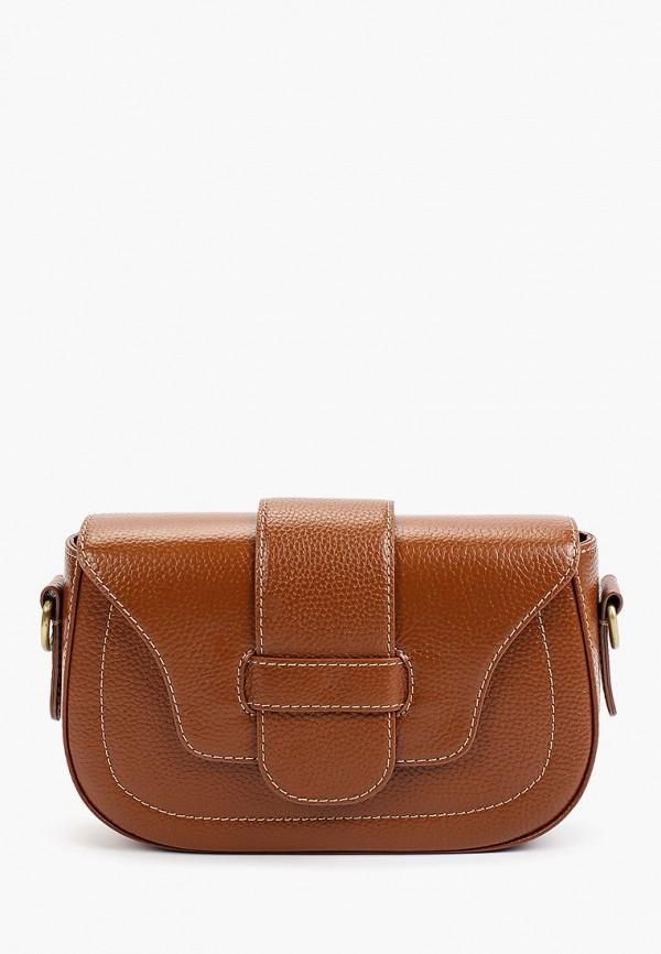 женская сумка через плечо tesorini, коричневая