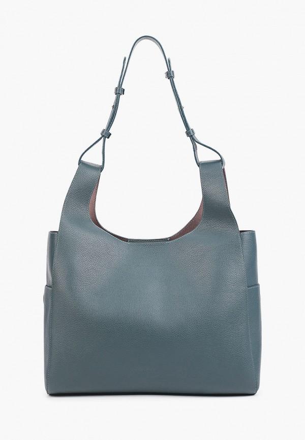 женская сумка-шоперы tesorini, бирюзовая