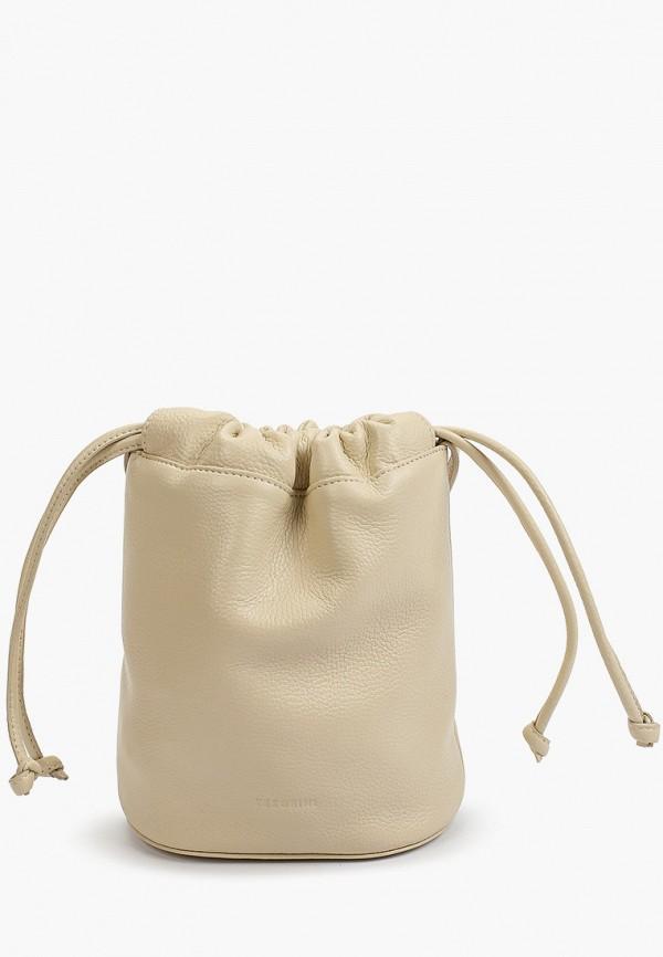 женская сумка через плечо tesorini, бежевая