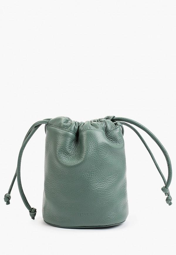 женская сумка через плечо tesorini, зеленая