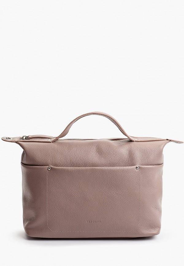 женская сумка с ручками tesorini, бежевая