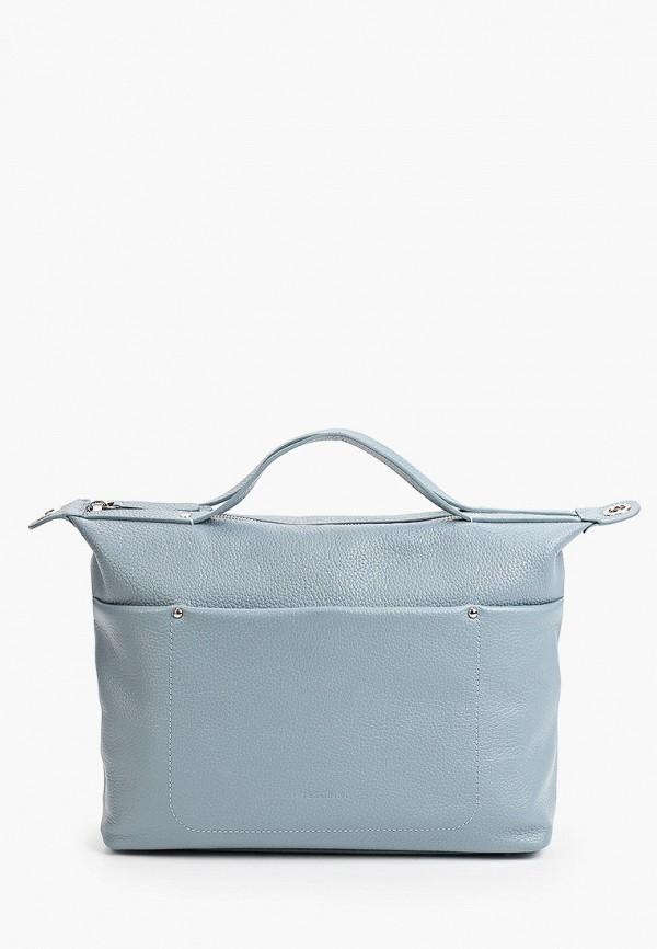 женская сумка с ручками tesorini, голубая