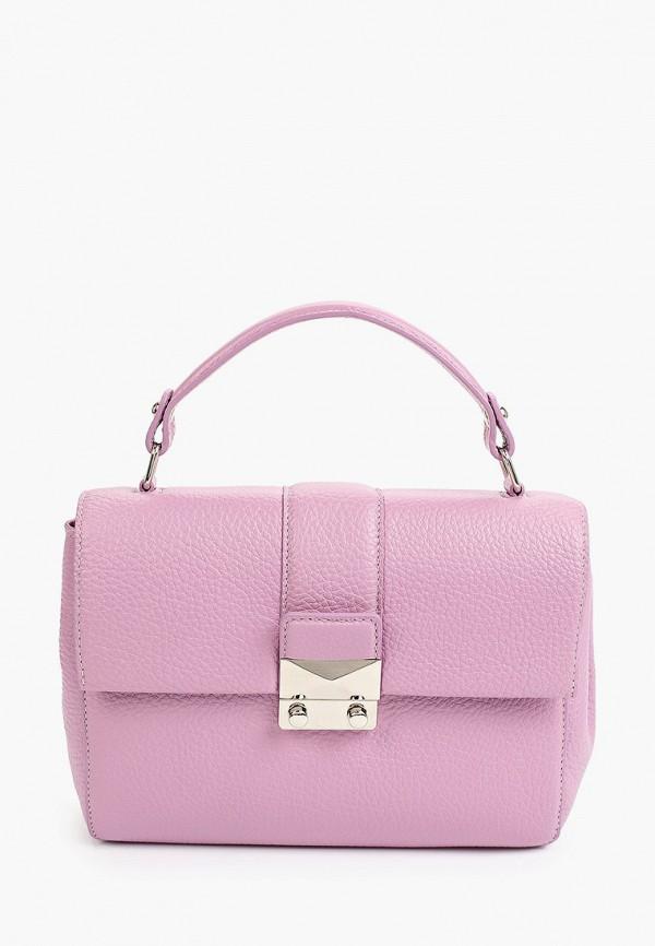 женская сумка с ручками tesorini, фиолетовая