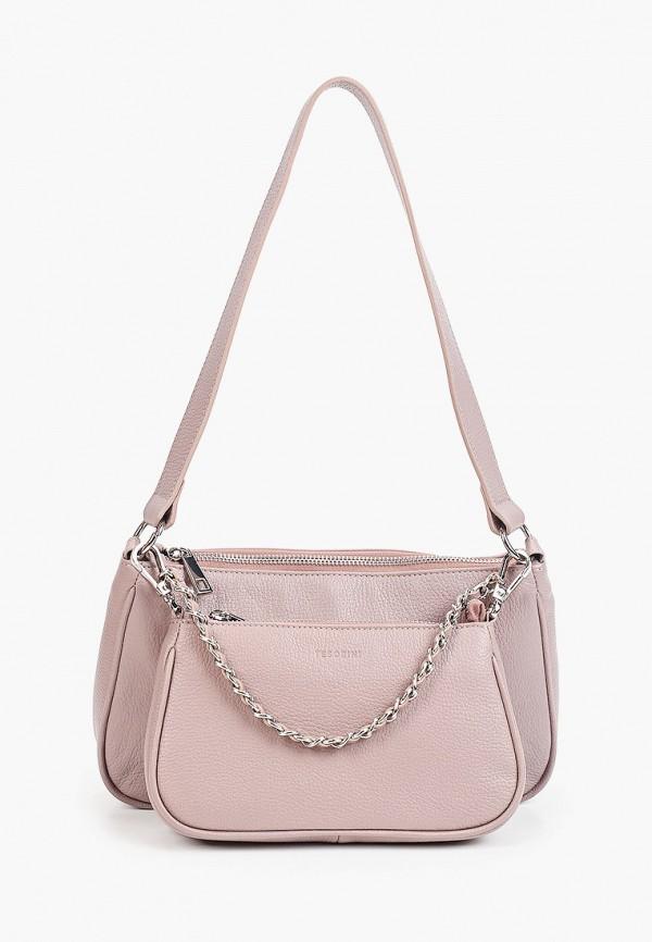женская сумка через плечо tesorini, фиолетовая