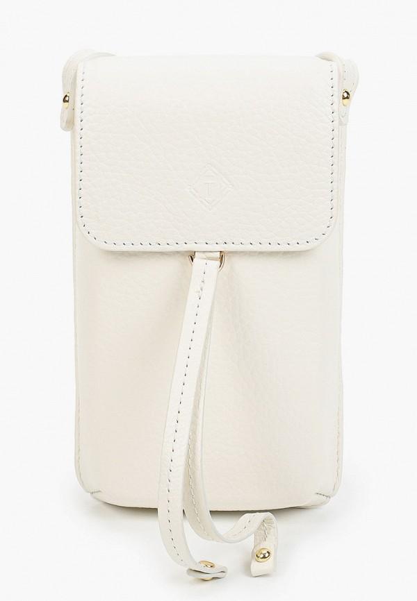 женская сумка через плечо tesorini, белая