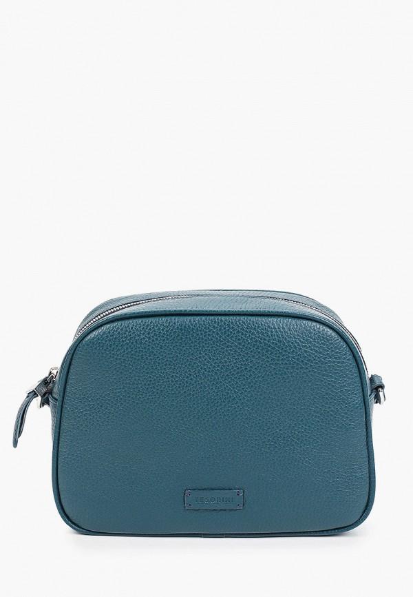 женская сумка через плечо tesorini, синяя