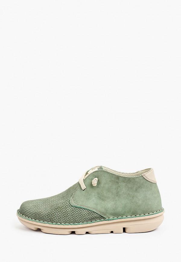 женские высокие ботинки on foot, зеленые