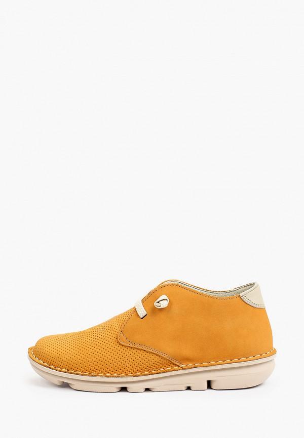 женские низкие ботинки on foot, оранжевые