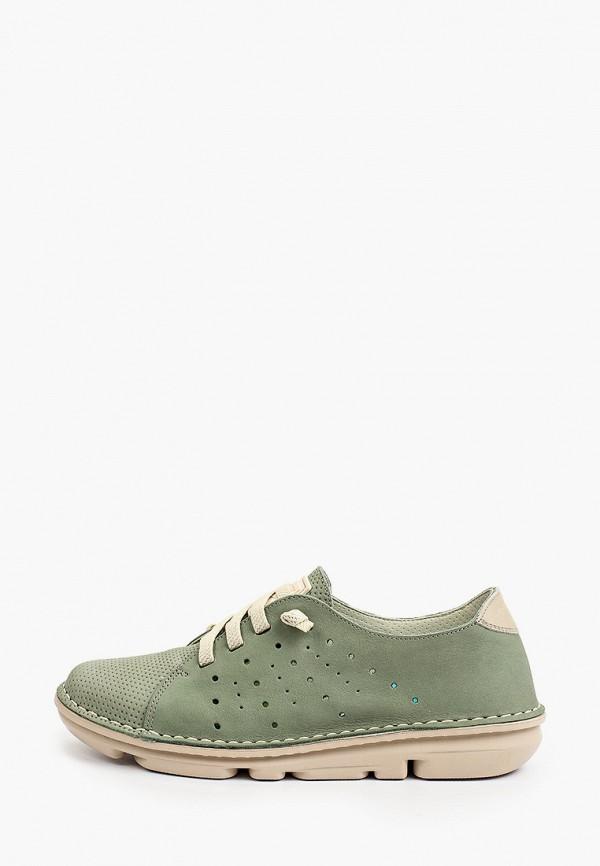 женские низкие ботинки on foot, зеленые