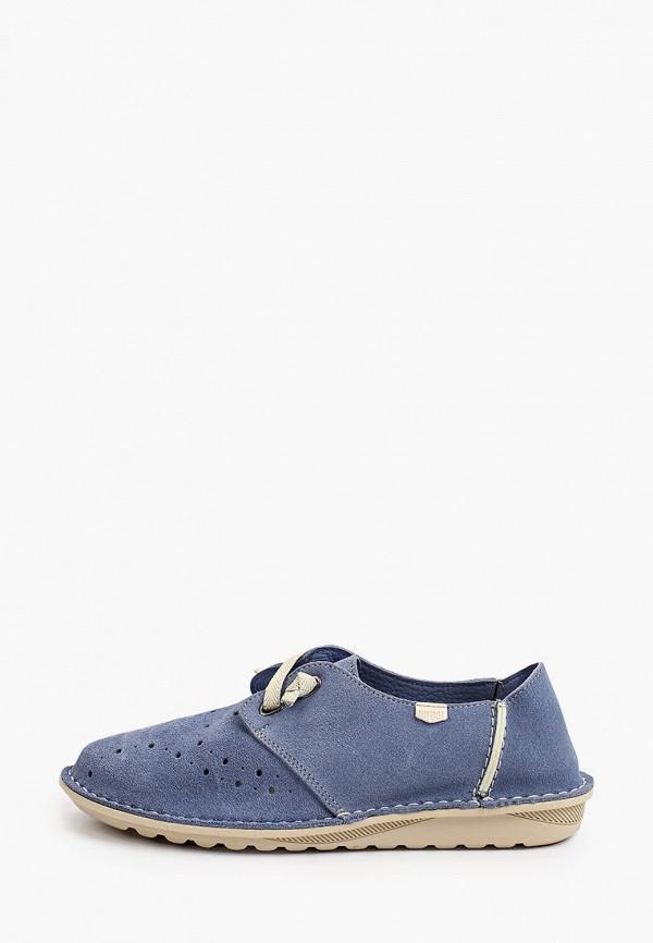 женские низкие ботинки on foot, голубые