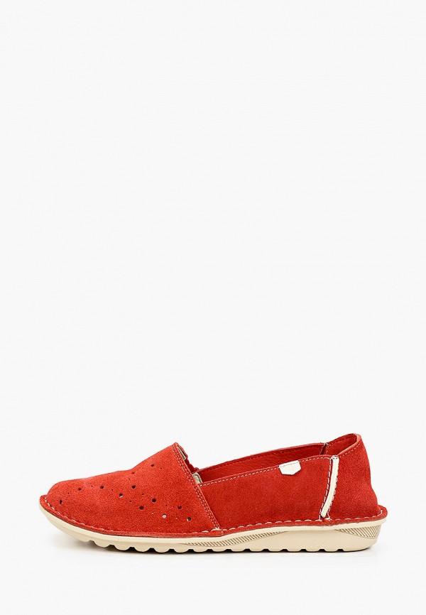 женские туфли с закрытым носом on foot, красные