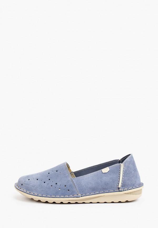 женские лоферы on foot, голубые