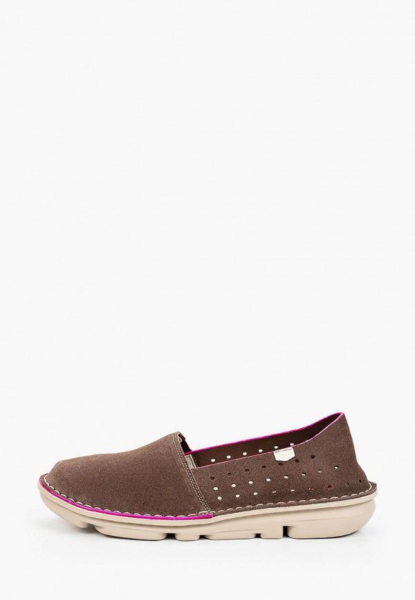 женские низкие слипоны on foot, коричневые