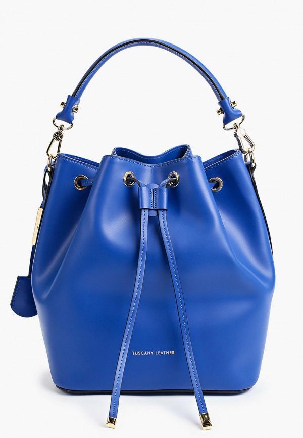 женская сумка с ручками tuscany leather, синяя
