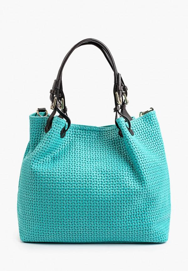 женская сумка с ручками tuscany leather, бирюзовая
