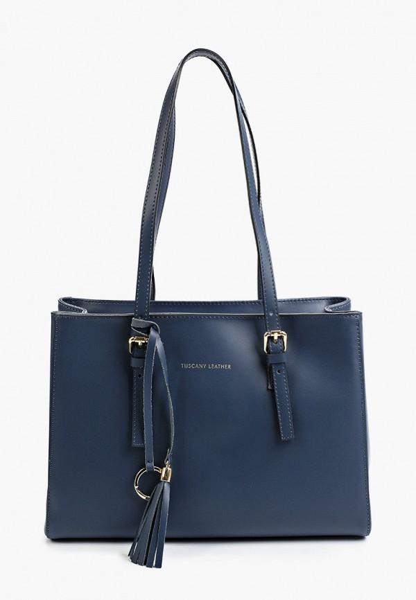 женская сумка через плечо tuscany leather, синяя