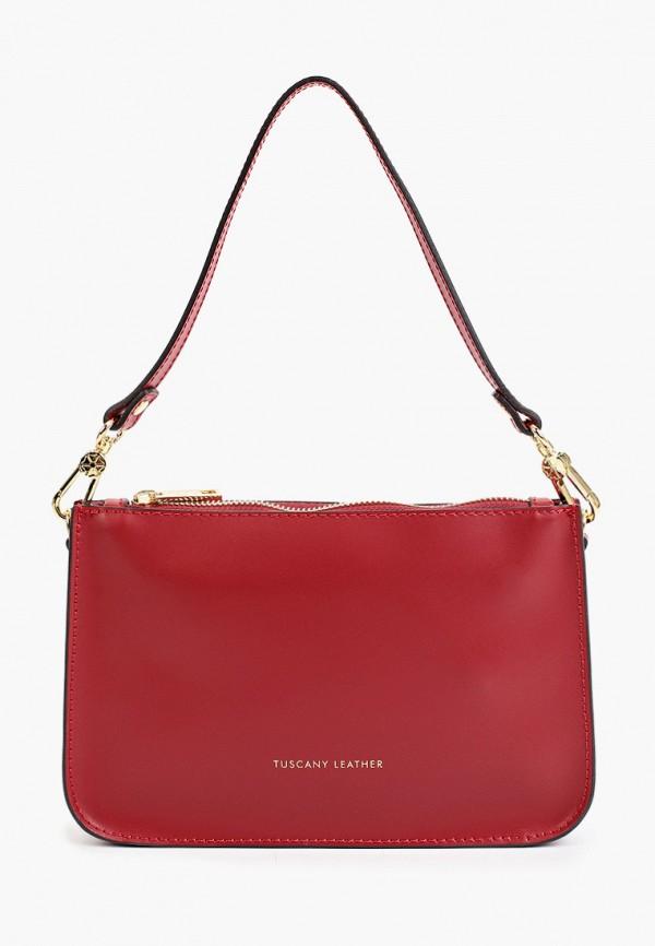 женская сумка через плечо tuscany leather, красная