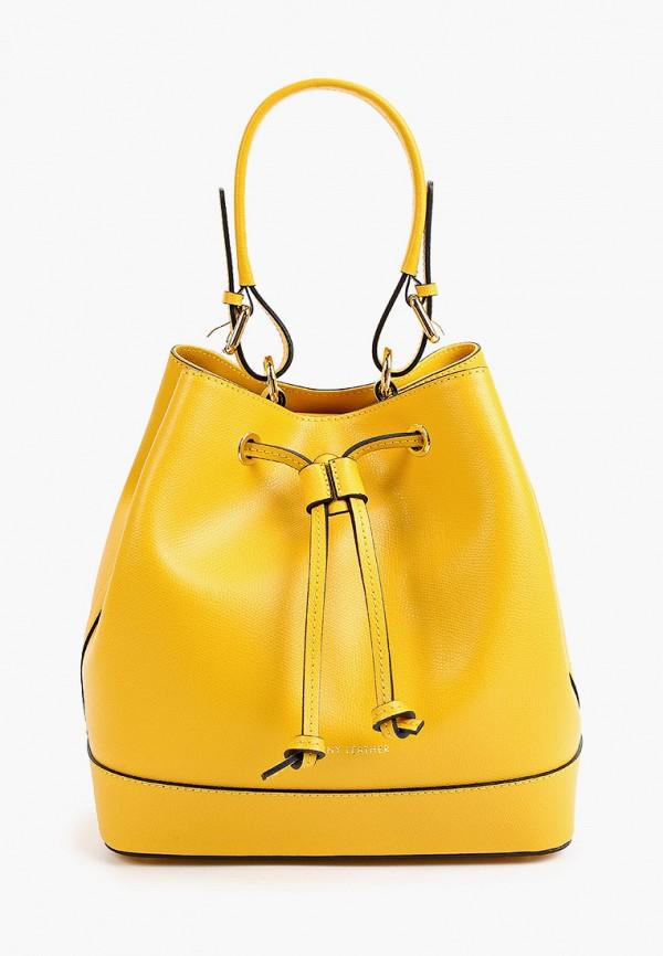 женская сумка с ручками tuscany leather, желтая