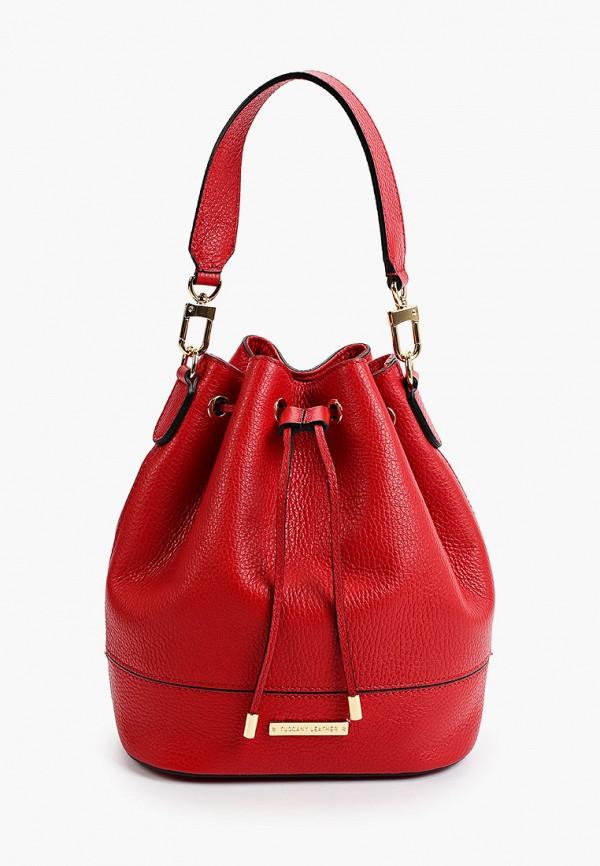 женская сумка с ручками tuscany leather, красная