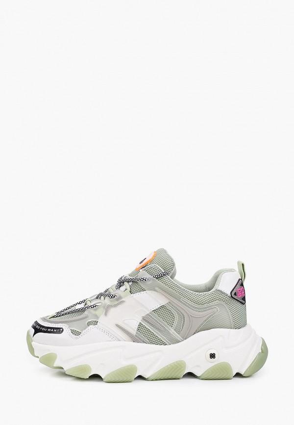 женские низкие кроссовки abricot, зеленые