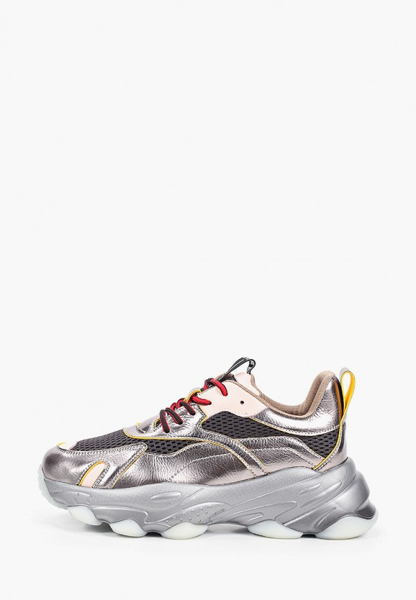 женские низкие кроссовки abricot, серебряные
