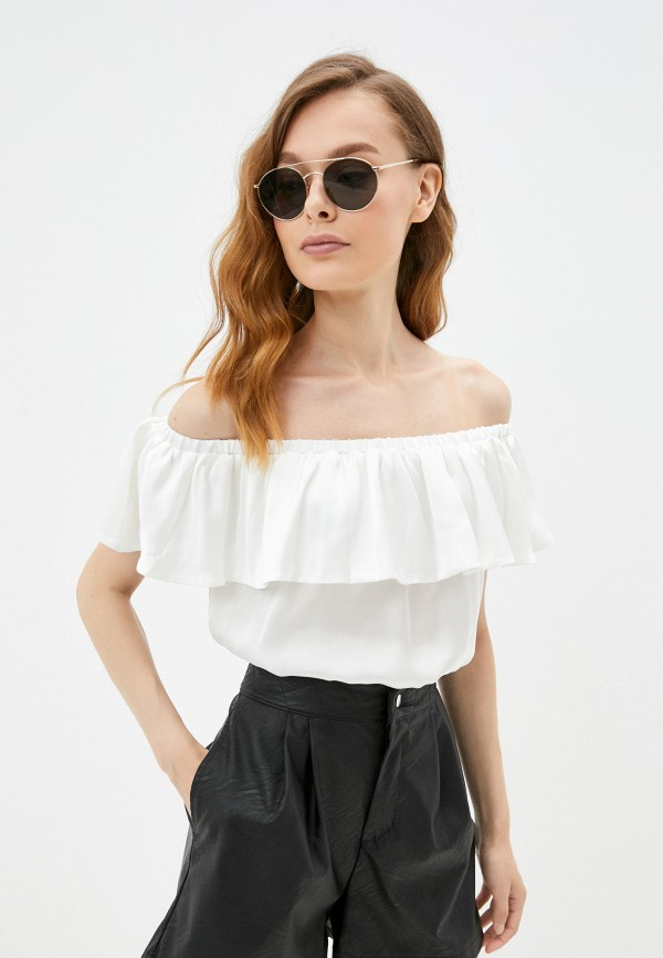 Блуза Vittoria Vicci белого цвета