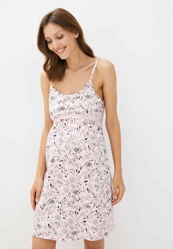 женские сорочка ночная lika dress, розовые