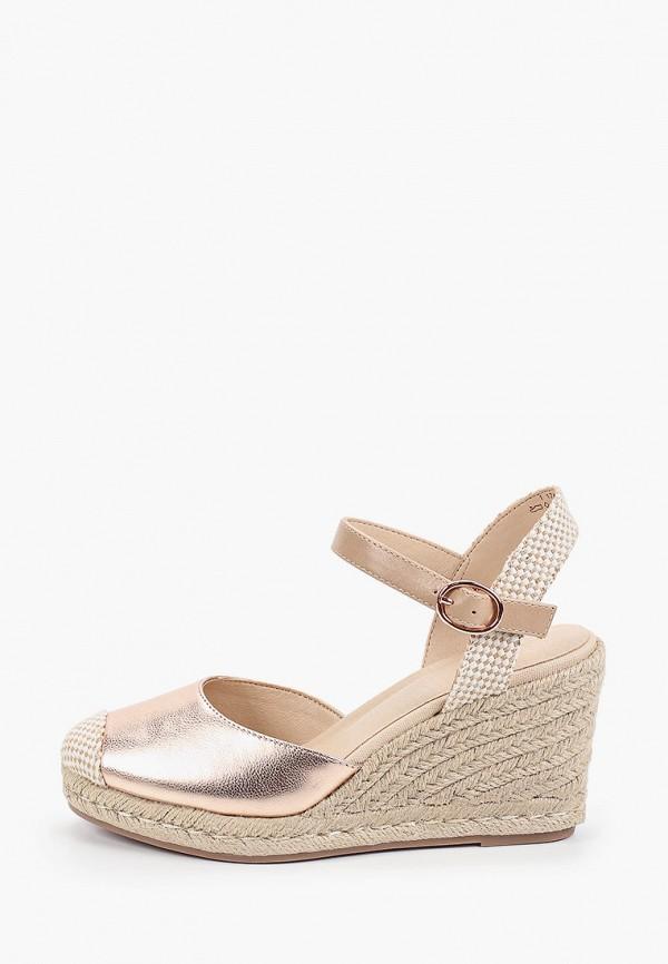 женские туфли graceland by deichmann, золотые