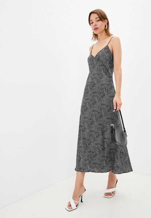 женское платье-комбинация emansipe, черное
