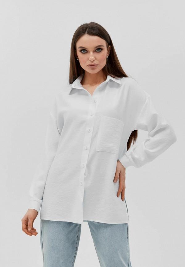 женская рубашка с длинным рукавом seventeen, белая