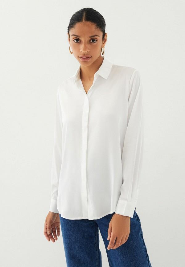 женская блузка с длинным рукавом zarina, белая